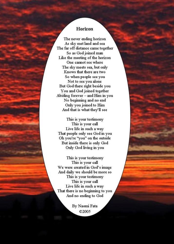 Horizon; Inspirational poem   Poems   Inspirational poems ...