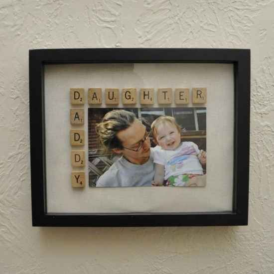 Add some Scrabble tiles to a picture frame to make it super special. How adorable!!