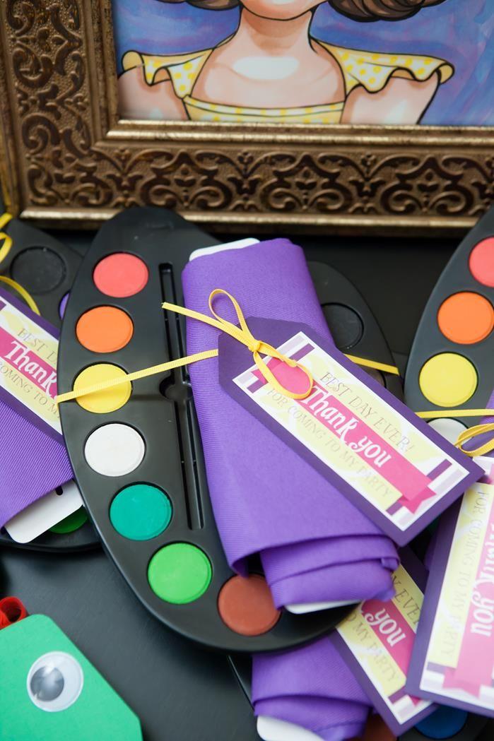 Acuarelas como regalos con impresión de rapunzel