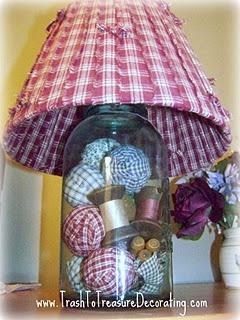 Cute primitive lamp!