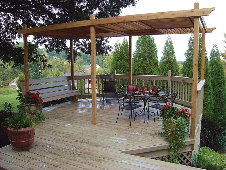 Build a Pergola in Your Backyard with One of These 13 Free Plans: Pergola Plan with Adjustable Roof Panels from HGTV