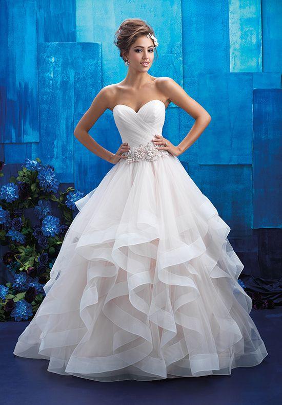 Sheer ruffled wedding dress | Allure Bridals 9408 | http://trib.al/pLCVn2V