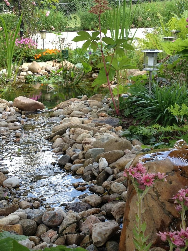 273 best Teich images on Pinterest Landscaping, Backyard ponds - naturlicher bachlauf garten