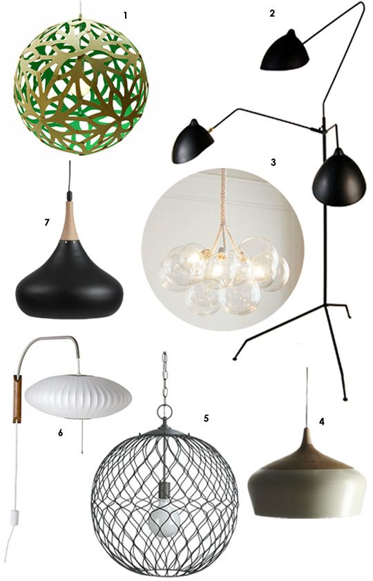 7 Lights for an Organic Modern Look Decor Style Source List |