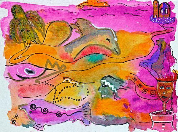"New painting uploaded ""Playing in Deep Waters"" #batyahav #art #batyahavart https://fineartamerica.com/featured/playing-in-deep-waters-dagmar-batyahav.html"