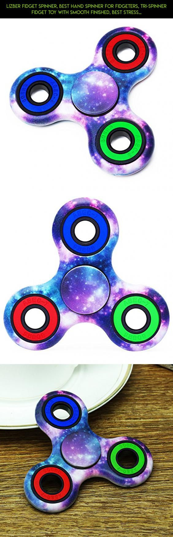 Lizber Fidget Spinner, Best Hand Spinner for Fidgeters, Tri-Spinner Fidget Toy with Smooth Finished, Best Stress Reducer Toy for ADHD, ADD, Autism, and Killing Time - Camouflage Starry Sky + Colorful #autism #racing #kit #fpv #drone #shopping #products #parts #technology #tech #gadgets #plans #camera #spinner