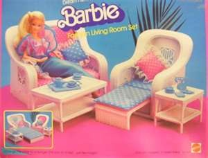 Barbie wicker furniture. I only had the chair that came with my Barbie house.