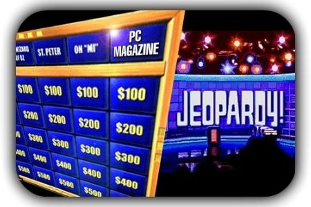 jeopardy template. no questions asked, slay your guest with this, Powerpoint templates