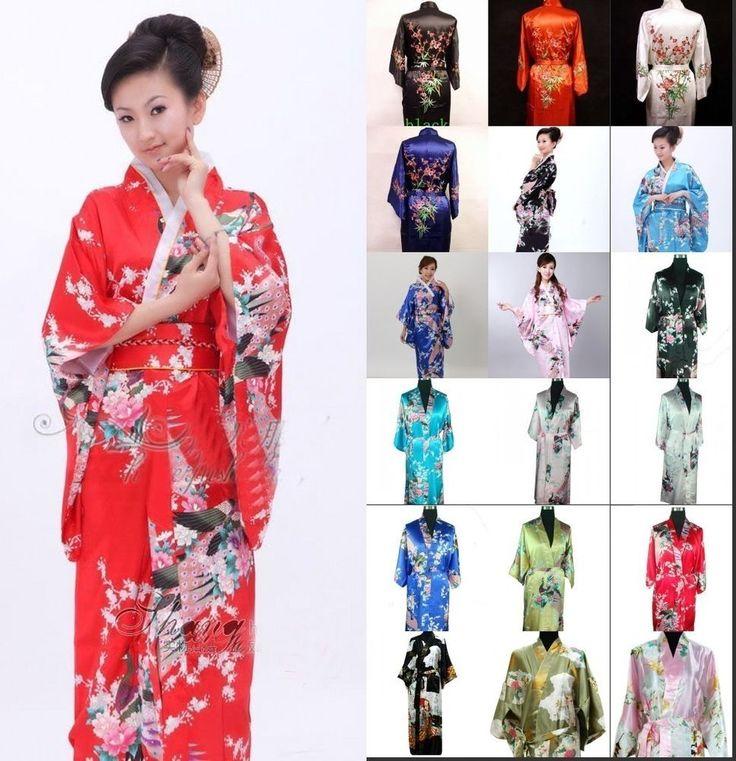 Hot kimono Japanese Yukata Kimono Obi Cosplay Robe Geisha Dress Vintage kimono