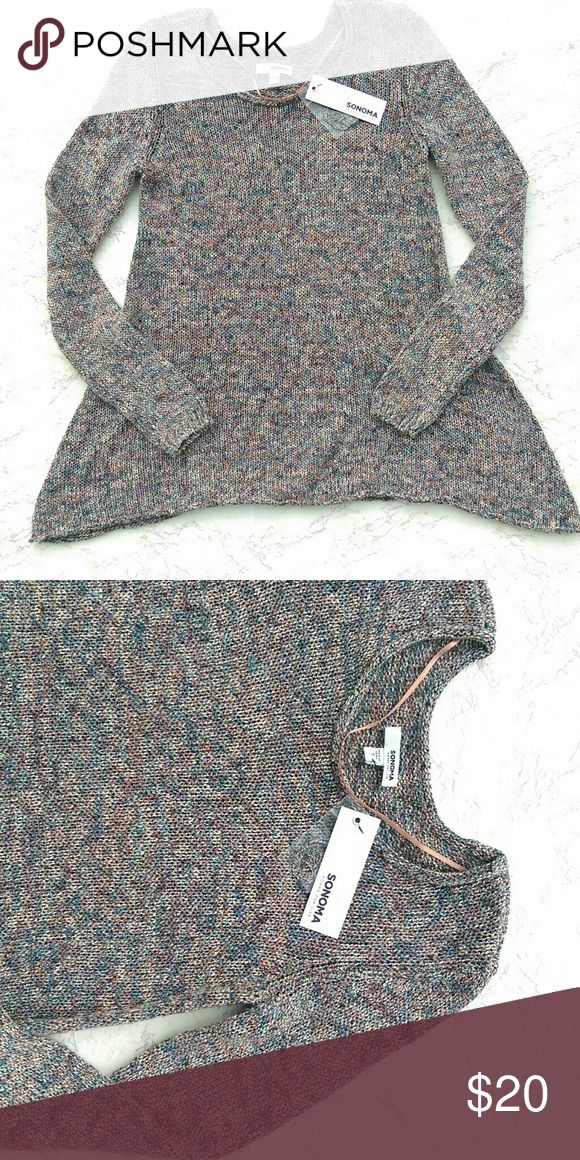 NWT Slouchy Sweater Top Pretty slouchy crochet knit sweater top in great condition.  Size: Small These are NOT $50. Like them? Make me ANY offer that you want. LOW BALL me if you want :) Sonoma Tops