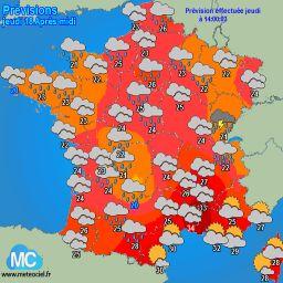Meteociel - Observations météo des impacts de foudre en temps réel - Orages