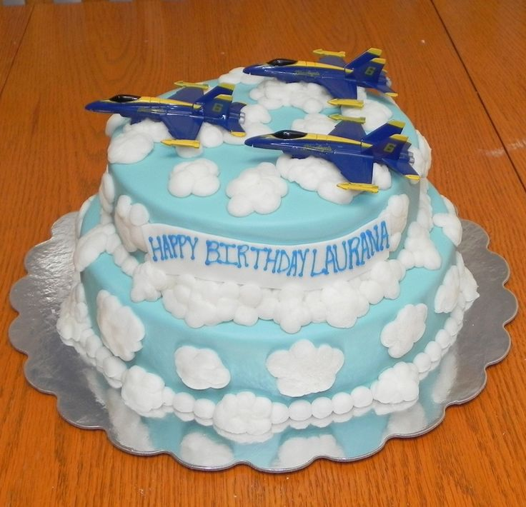 In Blue Angels Airplane Cake Album Birthday Photos