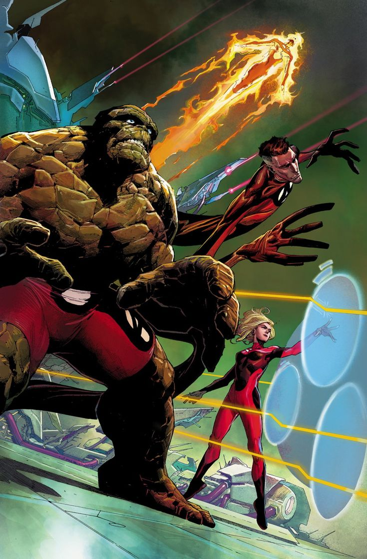 FANTASTIC FOUR #1 - February 2014 JAMES ROBINSON (W) • LEONARD KIRK (A/C) The team isn't met with new beginnings, but an untimely end! As the family of cosmic explorers head towards their darkest hour, who could possibly be behind their downfall? And how is one of their oldest enemies, the sadistic dragon known as Fing-Fang-Foom involved?