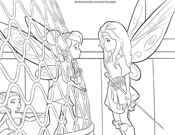 Disneys The Pirate Fairy Coloring Pages Sheet Free Disney Printable Color Page