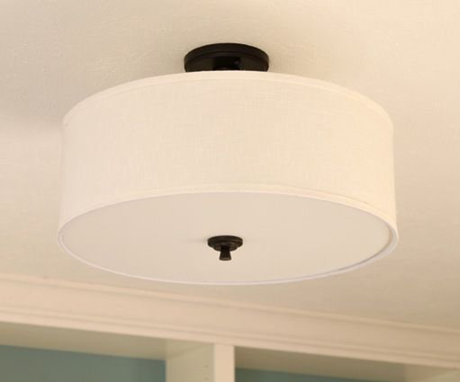 Good Earth Semi-Flushmount light from Lowes.