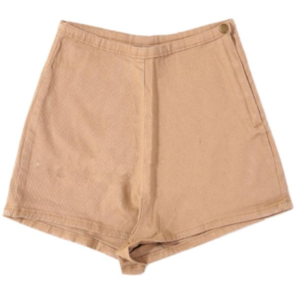Beige High Waisted Shorts ($35) ❤ liked on Polyvore featuring shorts, bottoms, short, clothing - shorts, high rise shorts, short shorts, highwaist shorts, high-rise shorts and high-waisted shorts