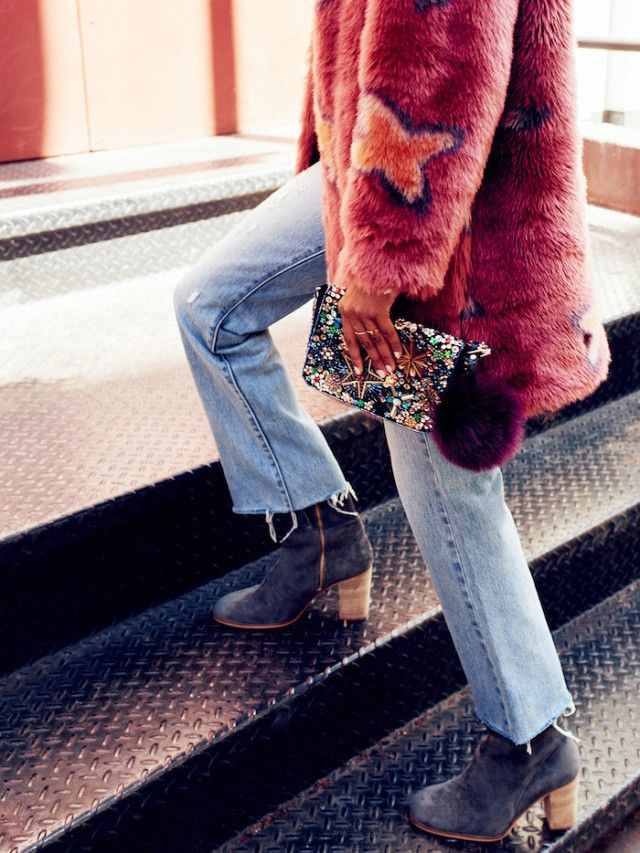 How to Wear a Bold Faux Fur Coat