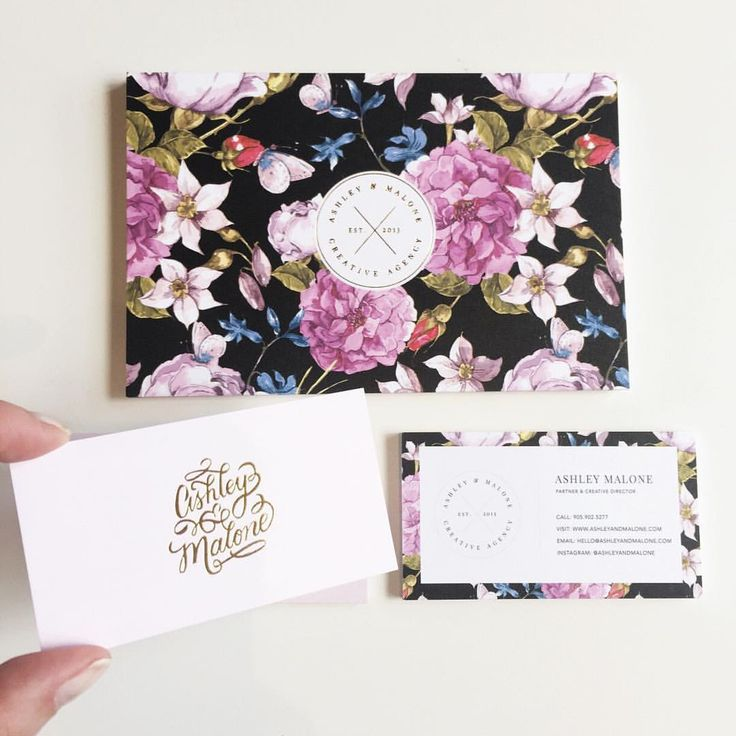 "Brand & Website Designer on Instagram: ""Obsessed might be a bit overdramatic but I'm so in LOVE with our new branded stationery. We'll be rolling out our own mini-makeover and…"" Floral business card"