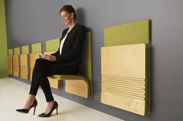 JumpSeat wall | award winning space saving seating