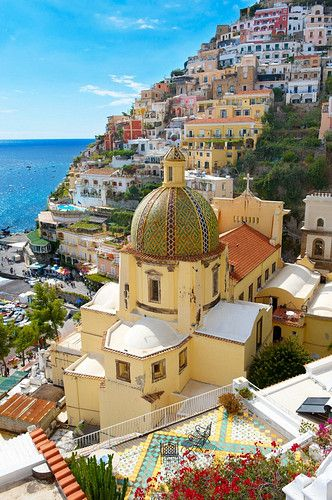 Positano , Italy.  A vibrant and welcoming village with LOTS of steps to test even the fittest amongst us.
