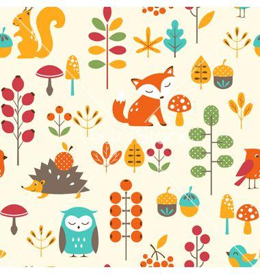 Cute autumn pattern vector Graphic design Pinterest