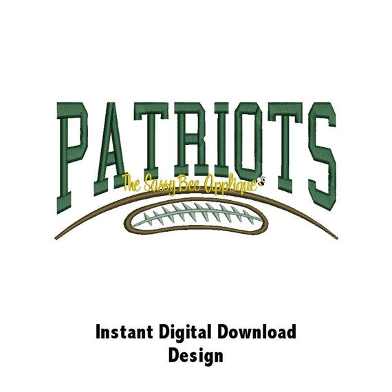 DD PATRIOTS Football Game Day Machine by TheSassyBeeApplique