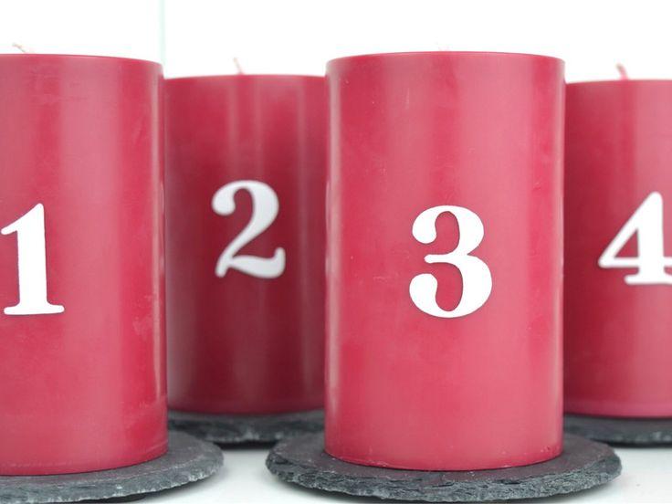 Kerzen & Beleuchtung - Adventskerzen - ein Designerstück von miocolori-Kerzen bei DaWanda