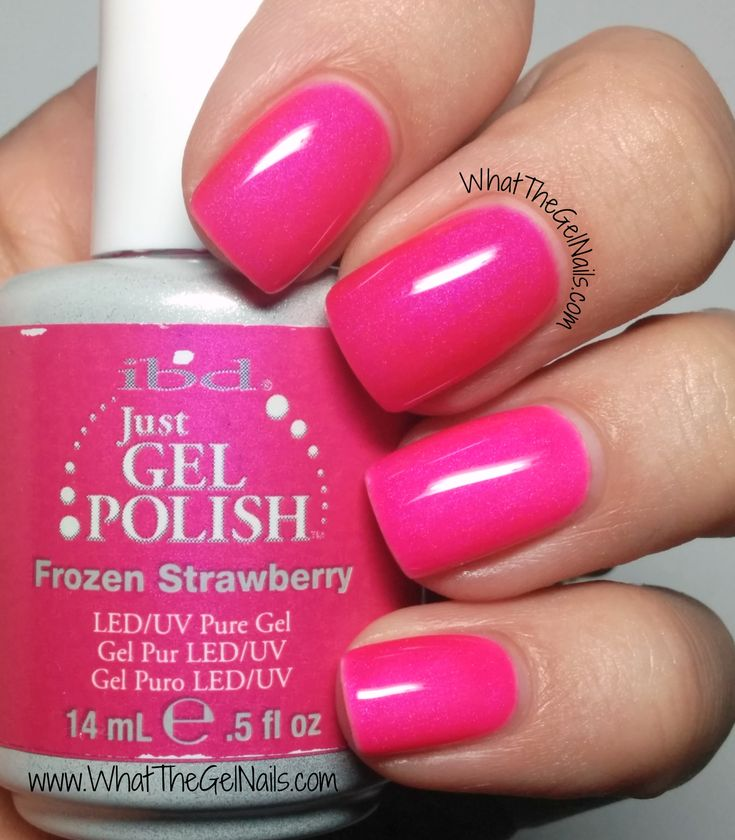 IBD Frozen Strawberry plus more pink IBD gel nail polish colors.