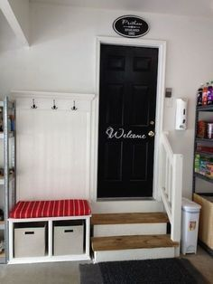 If you use the garage as a mudroom or entryway, there are still lots of ideas for storage, organising and decorating!
