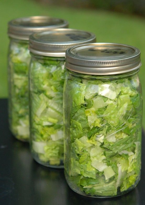 Im repinning this because....IT WORKS! My lettuce stays fresh for ever...and when I see it in my fridge... it makes me want to eat it...cant beat that! worth a try
