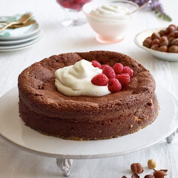 This chocolate-hazelnut cake is straight from her new cookbook, Lidia's Mastering the Art of Italian Cuisine. More at Chatelaine.com