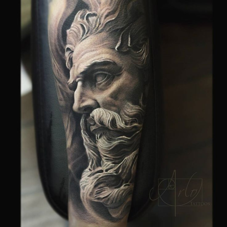 Neptune God Sleeve Tattoo - http://gotattooideas.com/neptune-god-sleeve-tattoo/