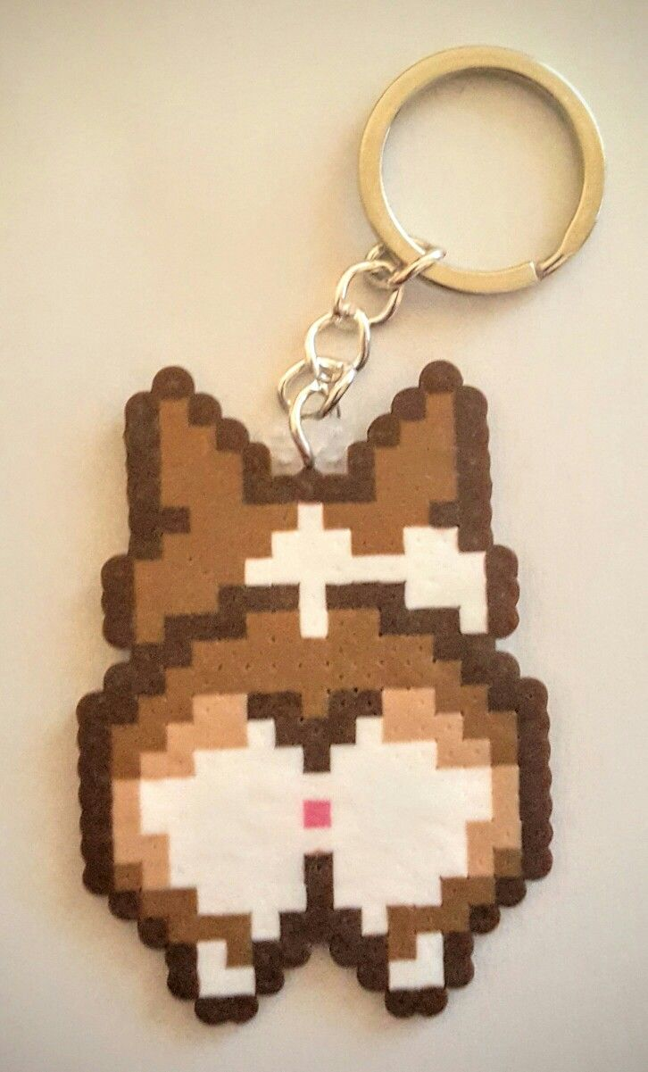 Corgi mini perler and like OMG! get some yourself some pawtastic adorable cat apparel!