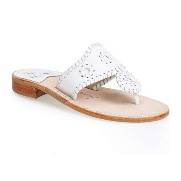Jack Rogers Shoes - Jack Rogers Whipstitched Flip Flop in White