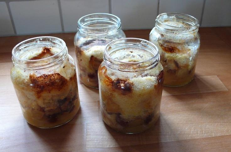 Fruittaartje in een potje