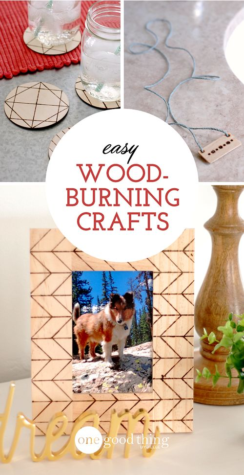Use a wood burning stove to make charming rustic crafts :-)
