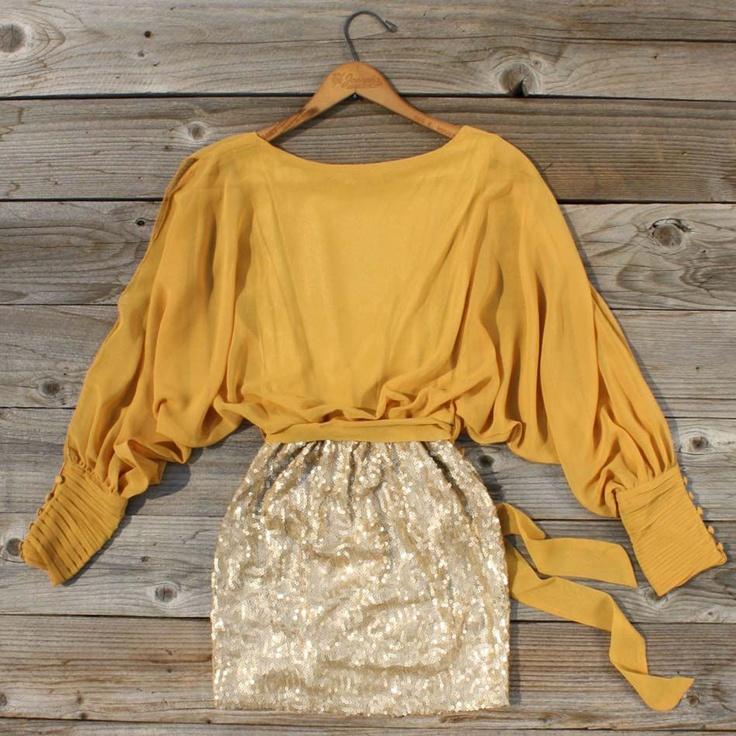Sequined Autumn Dress