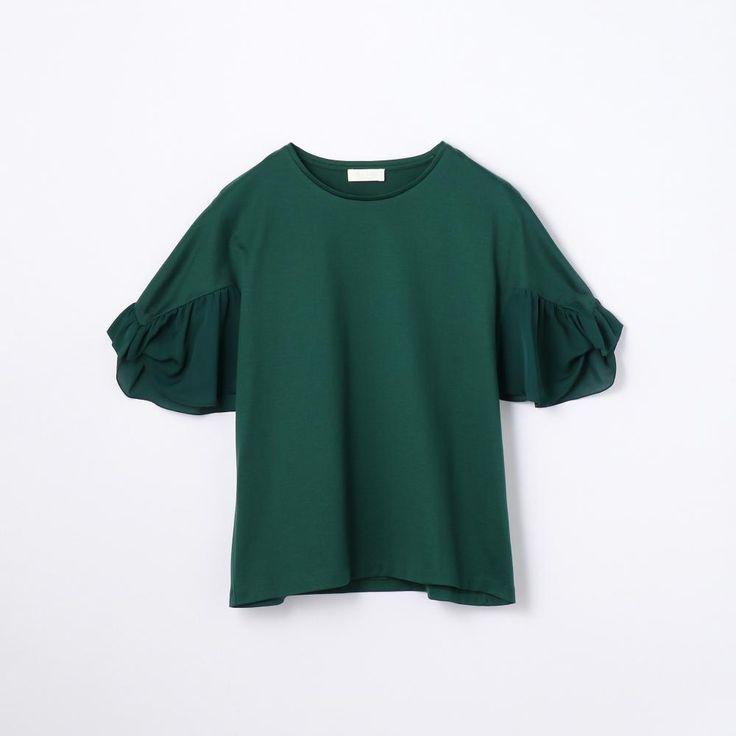 コットンシルクコンビ ボリュームスリーブプルオーバー(11037403102) | Tシャツ・カットソー | ウエア | ウィメンズ | Ballsey | トゥモローランド 公式通販