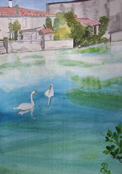 We've lost the baby........again! watercolour