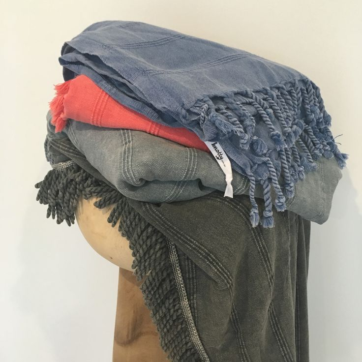 Just landed and already a hot favourite, the new Stonewash Collection is available in our Standard size, a Maxi/Throw and Round towel online now at www.knotty.com.au