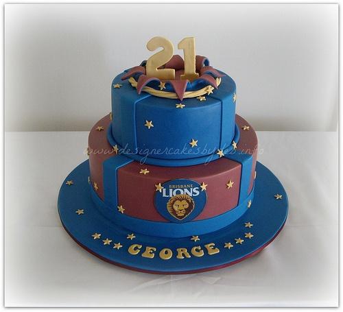 Brisbane Lions Explosion Rip Cake