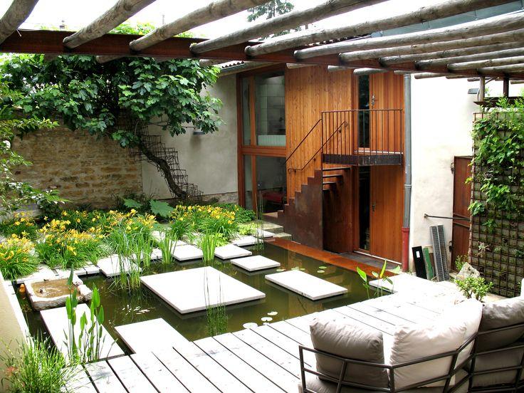 Un jardin privatif aux multiples couleurs un espace zen for Espace zen jardin