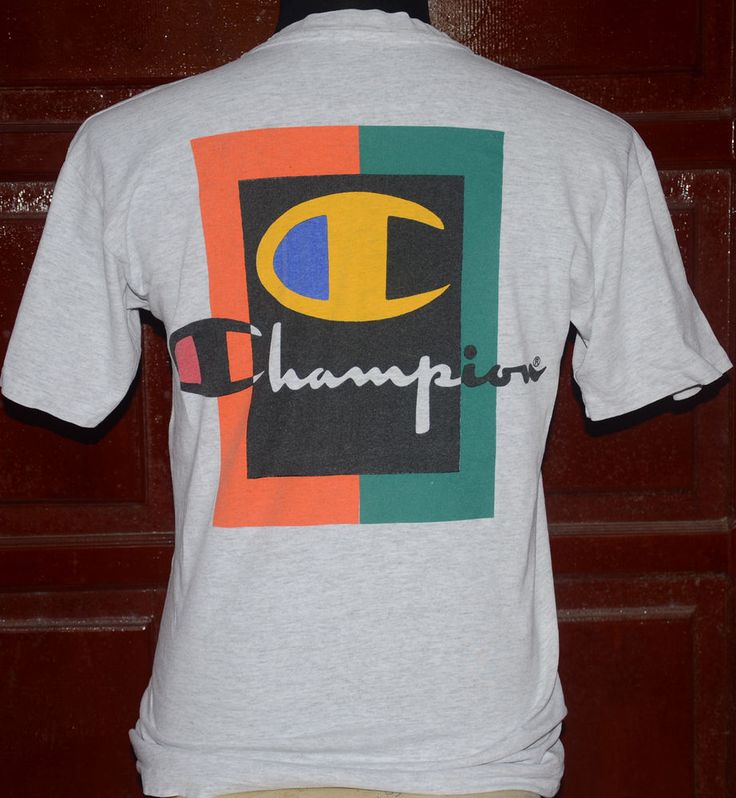 Details About Vintage Large Backside Logo T Shirt It Takes A Little More To Make A Champion