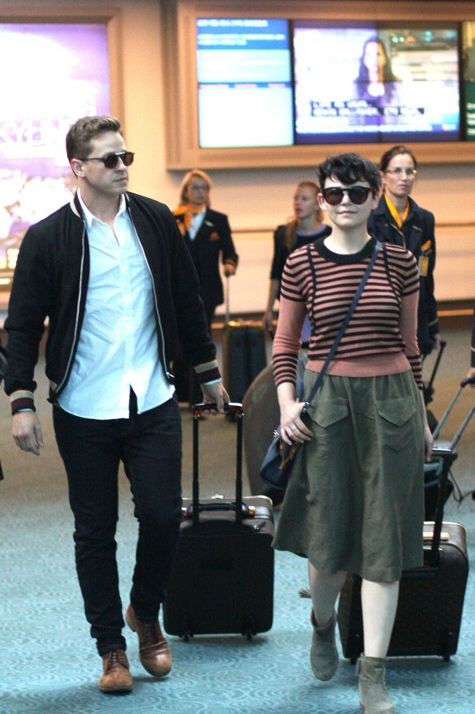 Ginnifer Goodwin - Joshua Dallas and Ginnifer Goodwin Arrive in Vancouver