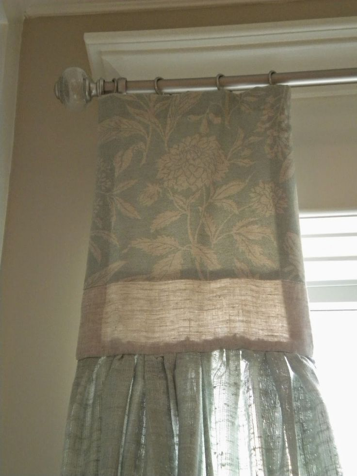 Inspiration Decoration Attached Valance Over Sheer Linen Windows Pinterest Valances And
