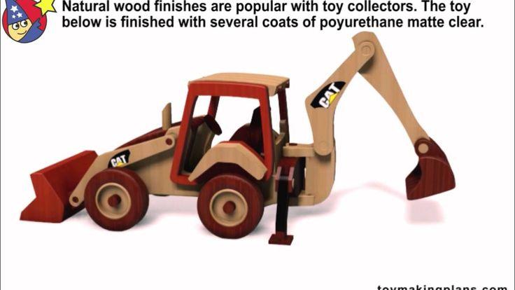 Wood Toy Plans Cat Backhoe Loader