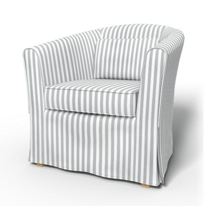 Tullsta Armchair cover with piping - Armchair Covers | Bemz | COVER FOR IKEA FURNITURES !