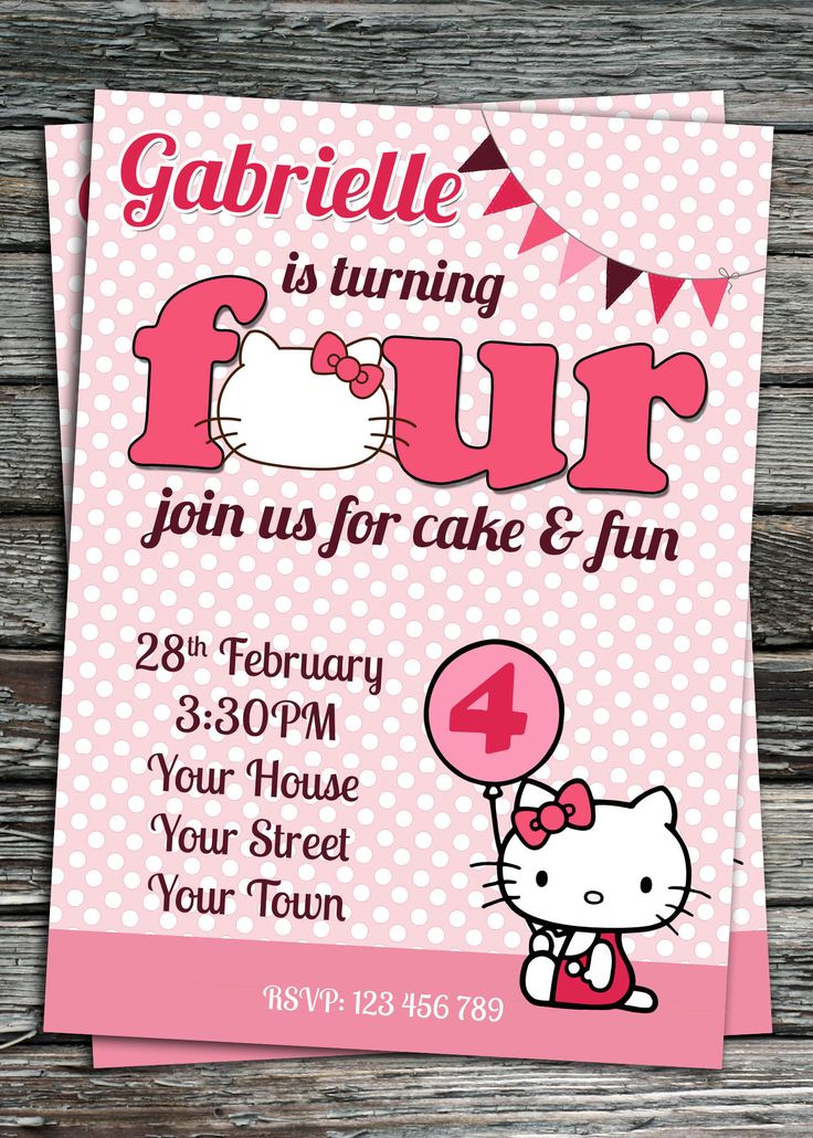 printable horse birthday party invitations free%0A Hello Kitty Birthday Party Invitation Printable by
