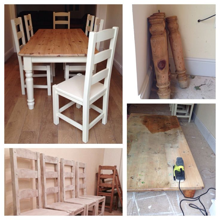 Minnies Maison Has Transformed This Old Tired Very Messy Solid Pine Table 6 Chairs