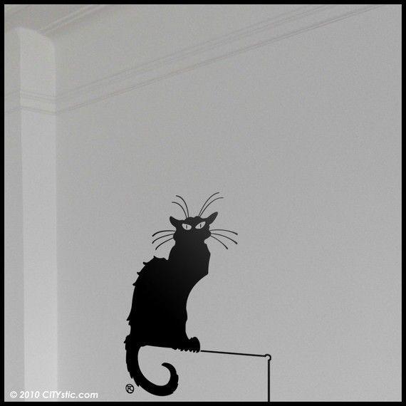 Sticker 'Chat noir - Lautrec'